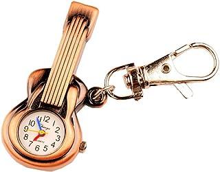 ZIMI Cute Guitar Design Key Ring Keychain Quartz Watch Gift (Bronze)