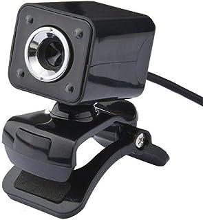 YIJ-YIJ Webcam with Microphone, Webcam USB Camera High Definition HD Camera 4 LED Lights USB Computer Webcam with 360 Degr...