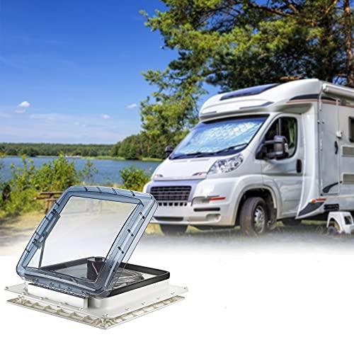 Kacsoo Ventilador de techo para caravana, ventilación de aire para caravana con sensor de lluvia, extractor automático de 12 V para autocaravana, tamaño de apertura del techo: 400 * 400 mm