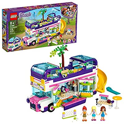 LEGO Friends Friendship Bus 41395 LEGO Heartlake City Toy Playset Building Kit Promotes Hours of Creative Play from LEGO