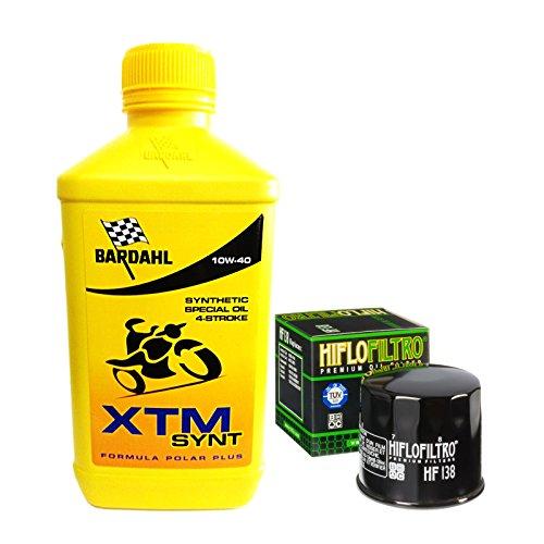 Tecneco Kit 3L Bardahl XTM Synt 10 W40 Filtre huile HIFLOFILTRO HF138