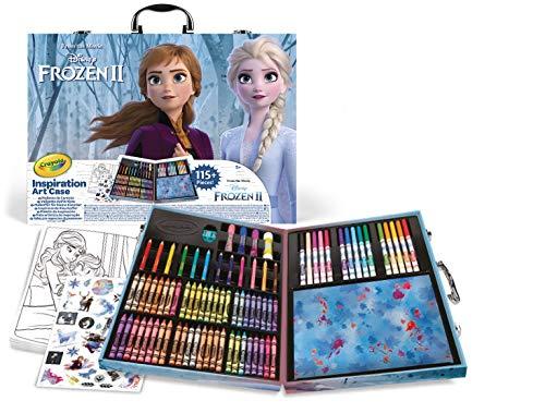 CRAYOLA- Valigetta dell'artista Disney Frozen 2, per disegnare e colorare, 115 Pezzi, Multicolore, 04-0635