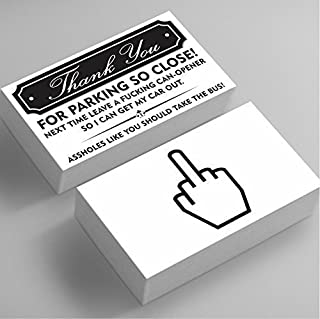 Funny Bad Parking Business Cards - Thank You For Parking So Close, You Suck At Parking Funny Joke Gag Notes Cards Fake Parking Ticket Funny Greeting Card Prank