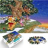 Puzzle 1000 Piezas Winnie The Pooh Animación Póster Puzzle Dificultad y desafío Personaje de Dibujos Animados Película Puzzle de Madera Dificultad y desafío 38x52cm