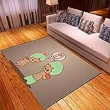 LGXINGLIyidian Casa Tappeto Modello di Arte del Fumetto Anime Classico Tappeto Morbido Antiscivolo per La Decorazione della Casa con Stampa 3D T-483K 80X150Cm