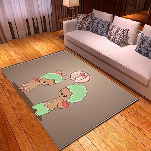 LGXINGLIyidian Casa Alfombra Patrón De Arte De Dibujos Animados De Anime Clásico Alfombra Suave Antideslizante De Decoración del Hogar De Impresión 3D T-488K 160X230Cm