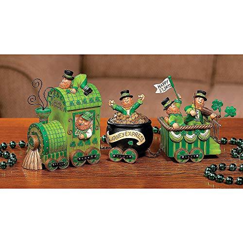 Leprechaun Express Tabletop Train - St. Patrick's Day Home Decor - 3 Piece Set
