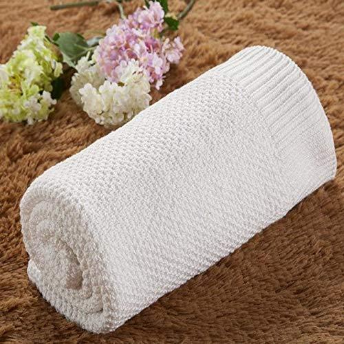 Zhangl Textile de Maison Couverture de bébé nouveau-né en coton pour enfant Linge de lit nouveau-né Swaddle Wrap Textile de maison blanc