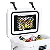 AIEVE Cooler Storage Bag, 2 Pack High Capacity Heavy Duty Adhesive Backed Elastic Nylon Mesh Storage Organizer Net Holder for YETI Roadie 20 Coolers and RTIC 20 Cooler Accessories