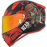 Broken Head Jack S. V2 Pro Integral-Helm Rot - Set incl. gratis rot verspiegeltem Visier –...