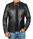Mens Leather Jacket Real Lambskin Motorcycle Jacket for Men