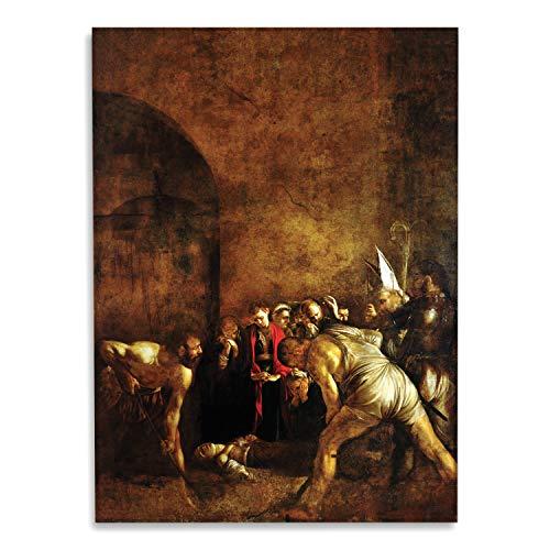 Giallobus - Schilderij - Caravaggio - Begrafenis van Sint Lucia - bedrukking op plexiglas acryl - klaar om op te hangen - Diverse formaten - 50x70 cm