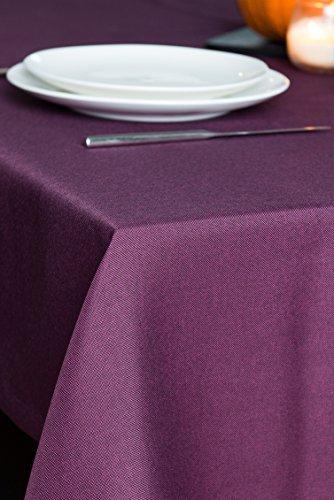 ROLLMAYER abwaschbar Tischdecke Wasserabweisend / Lotuseffekt (Melange Pflaume 215, 100x100cm) Leinenoptik Tischtuch mit pflegeleicht Fleckschutz, Quadratisch, Farbe & Größe wählbar
