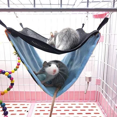 XHCP Genrics Hamster Hängematten Meerschweinchen Schwingen Spielzeug Kleintier Cotton Cage Hammock-Bett-Nest Schlafen, Haustier-Hang Haus