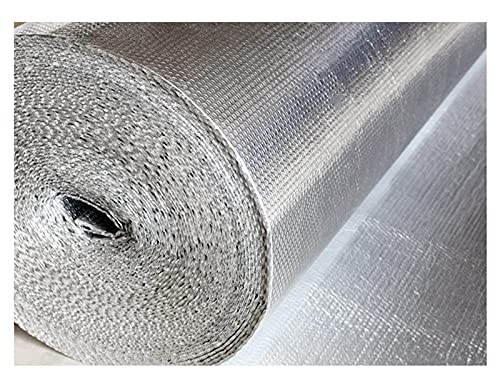 Self-adhesive Reflective Insulation roll Vapor Barrier Garage Door Insulation Kit for Wall Shed Loft Door Floor Engineered Foil Aluminum Foil Heat & Condensation Residential Commercial(Size:1x10m)