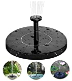 Solar Springbrunnen, 2021 Upgrade Solarbrunnen Garten Wasserpumpe mit 6 Fontänenstile Schwimmender Solar Fontäne Pumpe für Aussen Steintrog Gartenteich Vogel-Bad Fisch-Behälter