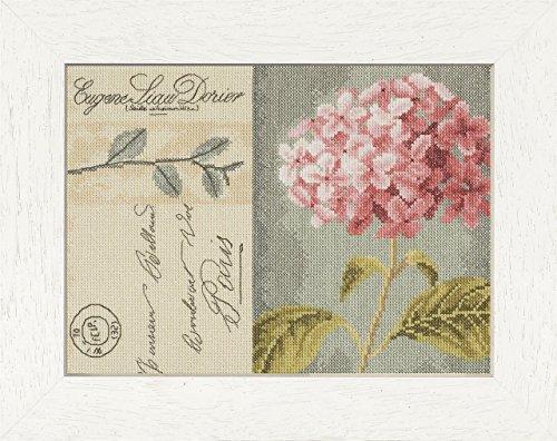 LANARTE PN Zählmusterpackung Hortensien Kreuzstichpackung, Baumwolle, Mehrfarbig, 28 x 20 x 0.3 cm