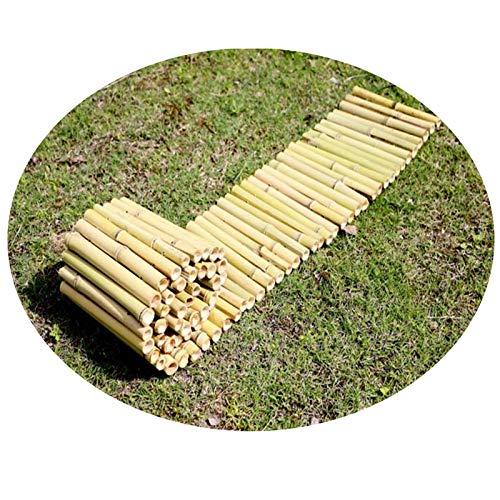 JIANFEI-weilan Dekorativer Lattenzaun, Bambus Zuhause Garten Natürlicher Rasen Landschaft Rahmen Ornament Zaun, Terrasse Privatsphäre Bildschirm, 5 Größen (Size : 100X30CM)