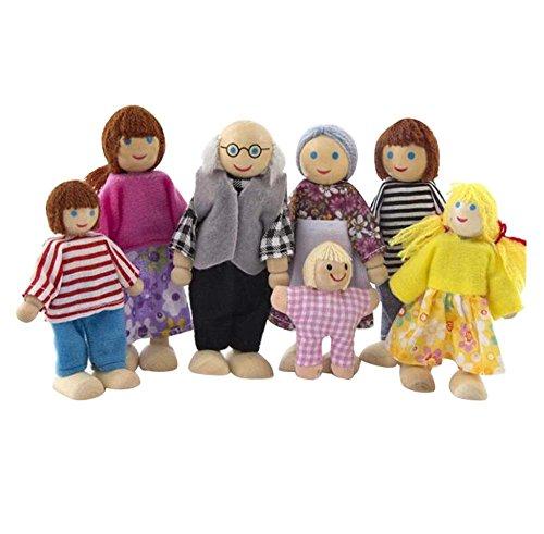 Black Temptation Beau Mini Grand-mère Grand-Papa Modèle Poupées Enfant Fille Play House Toys