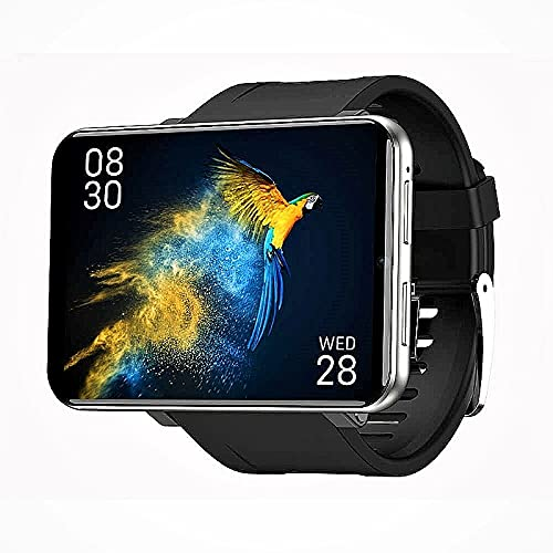 """HAZZLER 2.86"""" DM100 LEM T Upgraded Big Screen 4G Smartwatch with Android 7.1, 8MP Camera 2880 mAh Battery. GPS Fitness & Face Unlock. 3GB RAM + 32 GB Storage (Silver)"""