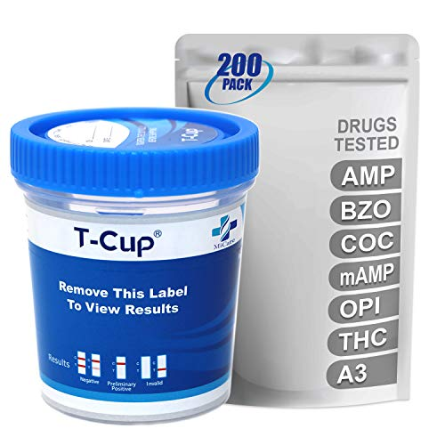 Best Review Of MiCare [200pk] - 6-Panel Multi Drug Test Cup (AMP/BZO/COC/mAMP/OPI/THC with A3) #MI-T...