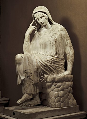 Vatican Penelope 6Th C Bc Roman Copy After A Greek Original Classical Greek Art Sculpture On Marble Vatican City Vatican Museums ? AisaEverett Collection Poster Print (18 x 24)