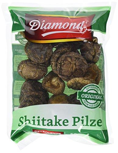 Diamond Shiitake / Tonko Pilze, getrocknet, 50g, 4er Pack (4 x 50 g Packung)