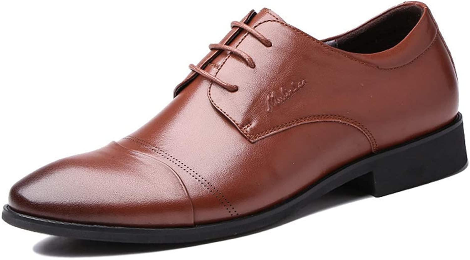 FuweiEncore Mens Business Business Business Formale Kleid Lederschuhe, Männer Casual Lace Up Derby Schuhe Bequeme Loafers für Männer (Farbe : Braun, Größe : 9.5 US/8.5 UK) B07KK9SFK7  af5048