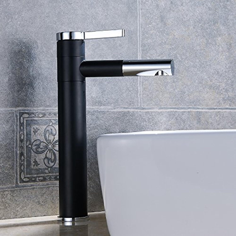 Aawang Basin Sink Mixer Tap Bathroom Faucet Black White 360 redary Faucet, Black