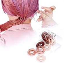 Spiral Hair Coils Ties Rings - Traceless Hair Elastics Bands Resilient Ponytail Holders with Strong Grip Durable Hair Accessories for Girls Women Suitable for All Hair Types (Light-9)