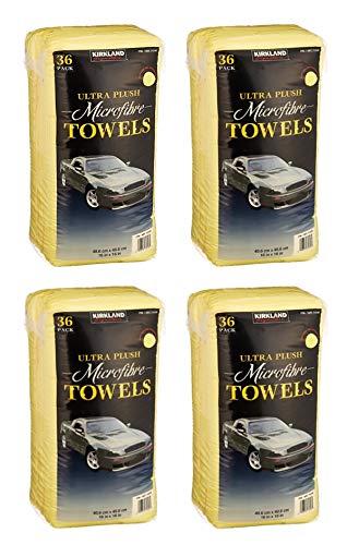 Kirkland Signature Ultra High Pile Premium Microfiber Towels, 36 Pack 16x16 4 Pack