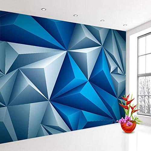 Benutzerdefinierte 3D Wandbilder Tapete Moderne Stereoscopic Blau Geometrische Raum Wandbild Kreative Wohnzimmer TV Hintergrund Fototapete 430x280cm