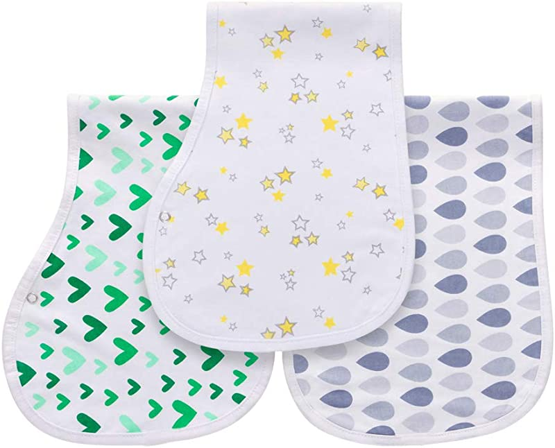 Burp Cloths For Baby Boy Girl For Newborns 100 Cotton Triple Layer Extra Soft Absorbent Multi Use Infant Burping Towels StarryLove