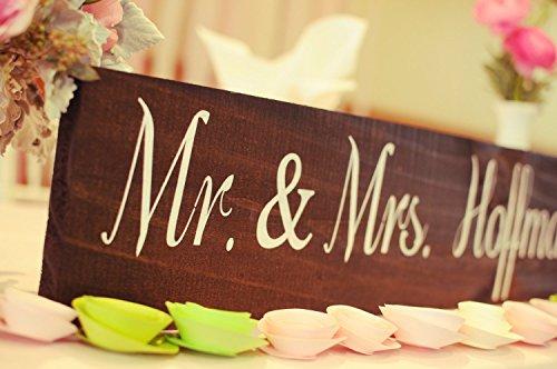 Norma Lily Herr und Frau Tisch Schild Schilder Hochzeit Signage Rustikal Hochzeit Schilder Kopf Tisch Schild