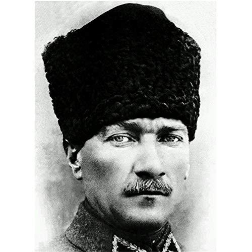 nr Mustafa Kemal Atatürk Revolutionärer Präsident der Türkei-Wandaufkleber Poster Licht Leinwand Dekoration 61x91cm Kein Rahmen