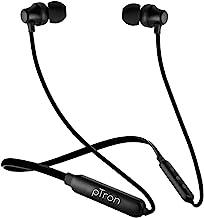 pTron Tangent Lite Bluetooth 5.0 Wireless Headphones with Hi-Fi Stereo Sound, 8Hrs Playtime, Lightweight Ergonomic Neckban...