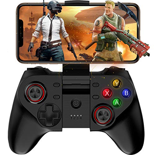 Mobile Game Controller, Megadream Wireless Key Mapping Gamepad Joystick Perfect for PUBG & Fotnite, for iOS Android iPhone iPad Samsung Galaxy Other Phone & Tablet PC - Do Not Support iOS 13.4