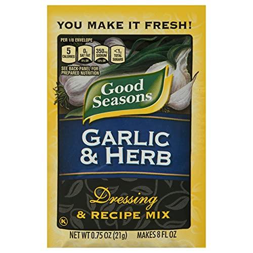 Good Seasons Garlic & Herb Salad Dressing & Recipe Mix (0.75 oz Envelopes, Pack of 24)
