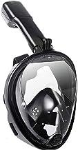 Full Face Snorkel Mask, Andningsmekanismen Snorkling Masker För Barn Vuxna, Flat Crystal Lins, 180 ° Panorama- Anti-läcka/...
