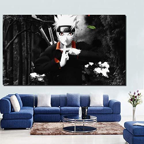 tzxdbh Klassische Anime Retro Poster Vintage Kunst Leinwand Poster Malerei Wandkunst Bild Drucken Home Schlafzimmer Dekoration Rahmen HD