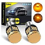 2 x Le plus brillant Canbus erreur free 1156 BAU15S PY21W Ampoule LED 1850LM haute puissance 3030 45 SMD Clignotant 12V No flash Voiture Clignotants avant et arrière, jaune ambre
