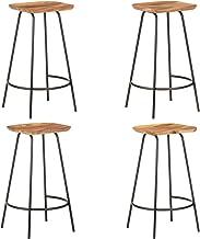 vidaXL Stołki barowe, 4 szt, lite drewno akacjowe