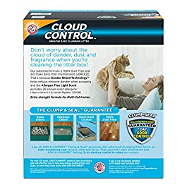 Arm & Hammer Cloud Control Platinum Clumping Cat Litter 37lb, Gray