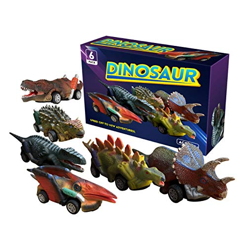 Pull Back Dinosaur Toy Vehicles Cars for Kids Boys, Toys for 3-8 Year Old Boys Birthday Gifts Present for Children Party Favor Boys Toys Gifts Age 3-8 GT01