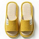 HUSHUI Espuma De Memoria CáLido Comodidad Pantuflas,Calientes Pantuflas de algodón Antideslizante, hogar Interior Cotton-Yellow_36-37,CáLido Pantuflas Memoria Espuma