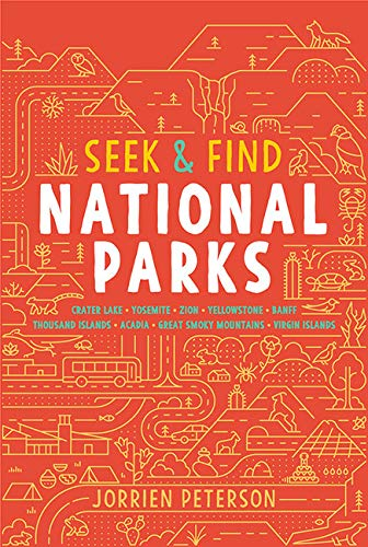 Seek & Find National Parks: Crater Lake, Yosemite, Zion, Yellowstone, Banff, Thousand Islands, Acadia, Great Smoky Mountains, Virgin Islands