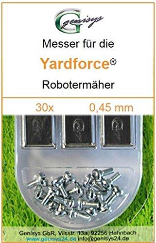 30 Ersatz-Messer Qualitäts-Klingen 0,45mm Yardforce SC 600 Eco SC600-Eco SA 900 SA900 SA 600 H SA600H