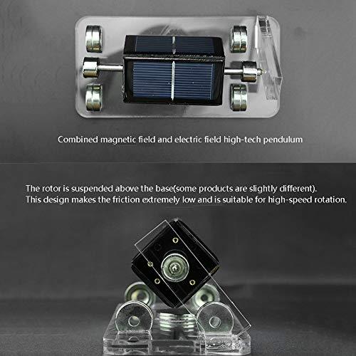 TOOGOO Solar Horizontales Vier-Seitiges Magnetisch Suspension Mendocino Motor Stirling Motor Ausbildung Modell