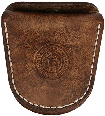 TOURBON Vintage Leather Slingshot Ammo Pouch 22 22lr 38 45 Ammunition Holder Wasit Belt Shell product image