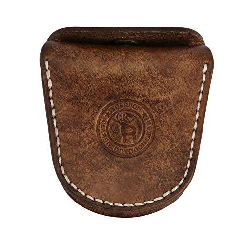 TOURBON Vintage Leather Slingshot Ammo Pouch .22 22lr .38 .45 Ammunition Holder Wasit Belt Shell Carrier Box